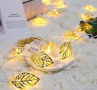 abordables -guirlande guirlandes lumières de feuille d'or 1.5m 10leds 3m 20leds vacances led lumières chaîne guirlande lumineuse guirlande lumineuse salon jardin mariage livraison décorative sans batterie