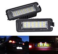 abordables -2 pièces 5W 12V 6500K LED plaque d'immatriculation lampes d'éclairage pour Golf MK4 MK5 MK6 Passat Polo CC EOS Sciroccolicense plaque d'immatriculation