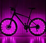 economico -LED Luci bici Luci per raggi ruota Ciclismo da montagna Bicicletta Ciclismo Impermeabile Modalità multiple Solare Batteria Ciclismo