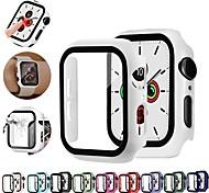 economico -Custodie Per Apple  iWatch Apple Watch Serie 6 / SE / 5/4 44 mm / Apple Watch Serie  6 / SE / 5/4 40mm / Apple Watch Serie  3/2/1 38 mm Silicone / Vetro temperato Proteggi Schermo Custodia per