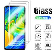 abordables -Protection Ecran XIAOMI Verre Trempé Redmi Note 9 Redmi Note 9 Pro Redmi Note 9 Pro Max Redmi Note 9S 3 pcs Haute Définition (HD) Dureté 9H Antidéflagrant Ecran de Protection Avant Film Vitre