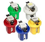 abordables -10 unités T5 lampe à LED 509T B8.5 voiture jauge speedo dash ampoule tableau de bord automatique instrument lumière b8.5d bleu rouge vert blanc jaune