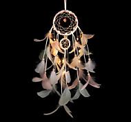 abordables -dreamcatcher plume carillons à vent avec veilleuse led décoration de chambre ornements capteur de rêves décoration romantique lumières pour salon chambre noël nouvel an décoration