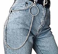 abordables -chaîne de pantalon pour femmes, pantalons pour hommes jeans porte-clés porte-clés pendentifs