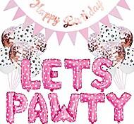 abordables -23pcs / set kit de décoration de fête pour animaux de compagnie chien chat laisse pawty ballons bannières d'anniversaire fournitures de fête