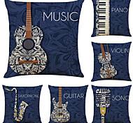 economico -set di 6 fodere per cuscini decorativi quadrati in lino per strumenti musicali artistici fodere per cuscini per divani 18x18
