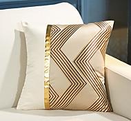 abordables -housse de coussin géométrie épissage doux décoratif carré housse de coussin taie de coussin taie d'oreiller pour canapé chambre 45 x 45 cm (18 x 18 pouces) qualité supérieure lavable en mashine