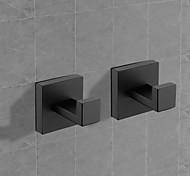 economico -porta accappatoio in ottone massiccio gancio da interno creativo moderno / tradizionale in metallo 2 pezzi - bagno a parete