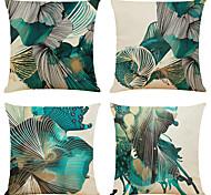 abordables -lot de 4 taies d'oreiller décoratives carrées en lin d'art abstrait housses de coussin de canapé 18x18