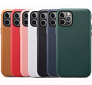 economico -telefono Custodia Per Apple Per retro Custodia in pelle iPhone 12 Pro Max 11 SE 2020 X XR XS Max Resistente agli urti A prova di sporco Tinta unica pelle sintetica TPU