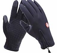 economico -touch screen in esecuzione guanti sportivi antiscivolo inverno antivento guanti resistenti all'acqua per lo snowboard ciclismo guida sms donne uomini (l)