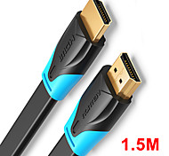 economico -vention cavo da hdmi a hdmi cavo piatto hdmi2.0 da maschio a maschio 4k * 2k 18gbps supporta ethernet 3d 4k video per hdtv ps3 / 4 1.5m