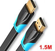 economico -vention cavo compatibile da hdmi a hdmi compatibile cavo piatto hdmi 2.0 da maschio a maschio 4k*2k 18gbps supporta ethernet 3d video 4k per hdtv ps3/4 1.5m