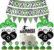 abordables -décorations de fête d'anniversaire de football fournitures de fête d'anniversaire décorations de fête de football décorations d'anniversaire de football pour garçons - bannière joyeux anniversaire