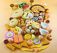 economico -Imposta cucina giocattolo Apparecchi di cottura per Bambini Giochi di emulazione Verdure Frutta Fai da te ABS Da ragazzo Da ragazza Giocattoli Regalo 54 pcs