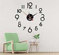economico -orologio da parete a parete con specchio acrilico semplicità digitale movimento silenzioso in stile nordico con orologio al quarzo con colla posteriore