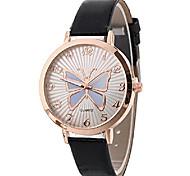 economico -orologi da donna al quarzo con motivo a farfalla analogico orologi da polso da donna orologi da ragazza orologi da donna in pelle nuovi