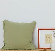 economico -Fodera per cuscino flash in cotone e lino coreano fodera per cuscino in tinta unita fodera per cuscino decorazione semplice