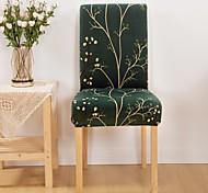 abordables -Housse de chaise Plantes Imprimé Polyester Literie