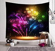 abordables -tapisserie murale art déco couverture rideau pique-nique nappe suspendue maison chambre salon dortoir décoration fibre de polyester nature morte feux d'artifice de couleur néon moderne