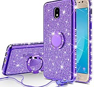 economico -simpatica custodia per cellulare glitter compatibile per samsung galaxy j7 crown case, galaxy j7 star, j7 2018, j7v 2nd gen, j7 refine case, ragazze donne bling diamond ring kickstand thin sparkly,