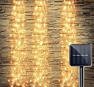 abordables -1set IP65 énergie solaire vignes branche LED flexible chaîne de vacances lumière pour extérieur jardin clôture arbre décor LED fée branche lumières Noël nouvel an lampe d'éclairage