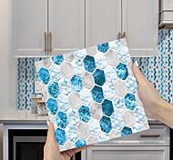 abordables -imitation époxy carrelage autocollant bleu et blanc cristal mosaïque wall sticker rénovation de la maison bricolage auto-adhésif pvc papier peint peinture cuisine étanche et étanche à l'huile wall
