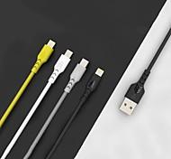 economico -Micro USB USB C Cavi Alta velocità Carica rapida Trasmissione dati 2.4 A 1.0m (3 piedi) PVC Per Xiaomi MI Samsung Xiaomi Appendini per cellulare