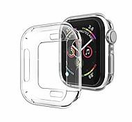 economico -compatibile con apple watch case series 5 series 4 40mm, nuovo iwatch tpu cover protettiva bumper compatibile per apple watch series 5 series 4 (40mm-clear)