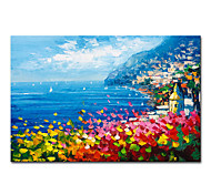 economico -Mintura di grandi dimensioni dipinto a mano astratto paesaggio marino pittura a olio su tela moderna immagine di arte della parete per la decorazione domestica senza cornice