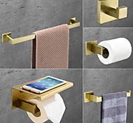 abordables -ensemble d'accessoires de salle de bain en acier inoxydable comprend un porte-serviettes simple porte-papier hygiénique crochet de robe et étagère à serviettes mural doré 1 ou 3 ou 4 pièces