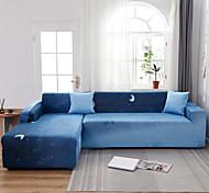 economico -moon print 1 pezzo copridivano copridivano copridivano protezione per mobili fodera morbida elasticizzata spandex tessuto jacquard super adatto per divano 1 ~ 4 cuscini e divano a forma di l, facile