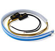abordables -2pcs voiture lumières DRL LED feux de jour 30cm / 45cm / 60cm auto flexible tube souple guide lumière du jour voiture LED bande clignotants