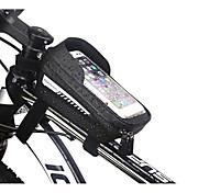 economico -1 L Marsupio triangolare da telaio bici Schermo touch Riflessivo Ciclismo Borsa da bici EVA Marsupio da bici Borsa da bici