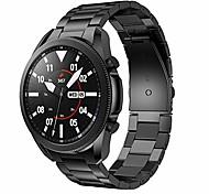 abordables -Bandes métalliques compatibles avec les bandes de 45 mm de la Galaxy Watch 3, bandes de montre en acier inoxydable solide Bracelet en métal de remplacement pour la montre intelligente de la Galaxy