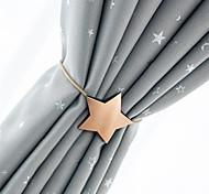 abordables -boucle magnétique de rideau en métal avec boucle de rideau punch créatif - cravate de rideau étoile à cinq branches gratuite