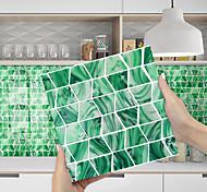 economico -adesivo murale imitazione resina epossidica mosaico verde acqua corrugato adesivo da parete ristrutturazione casa fai da te autoadesivo pvc carta da parati pittura cucina impermeabile e antiolio wall