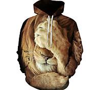 abordables -Homme Sweat-shirt à capuche Graphique Lion Quotidien Fin de semaine Impression 3D Simple Pulls Capuche Pulls molletonnés 1# 2# Arc-en-ciel
