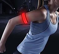 abordables -(tm) bracelet LED slap, bracelet lumineux, bracelet led, brassard, interrupteur marche / arrêt, batterie remplaçable, pour enfants, cycliste, coureurs, haute visibilité, résistant à l'eau. (rouge)