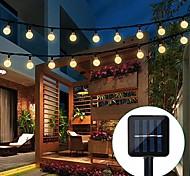 abordables -lumière LED solaire extérieure 5m 20led jardin tube lumières étanche led fée lumière pour la fête de mariage patio jardin arbre cour décoration