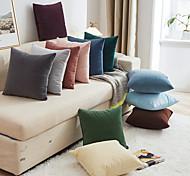abordables -oreillers décoratifs canapé housses de coussin couleur pure simple voiture décor à la maison multicolore étui sur l'oreiller