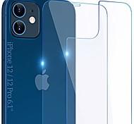 economico -protezione dello schermo anteriore e posteriore compatibile con iphone 12 / iphone 12 pro 2020, pellicola protettiva completa in vetro temperato da 6,1 pollici per accessori, 9 ore antiurto, da bordo