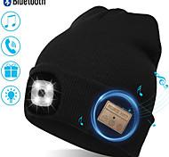 abordables -bonnet unisexe avec lampe frontale rechargeable avec 4 LED brillantes avec un faisceau de 3 mètres, se recharge via USB - idéal pour le cyclisme, la course à pied, le camping (style 2)