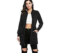 economico -giacca bomber manica lunga con cerniera slim fit casual da donna anorak