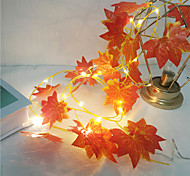 abordables -1x 2m 20leds lumières feuilles d'érable guirlande LED guirlande lumineuse guirlande de fées pour Noël Nouvel An décoration de fête automne chaîne lumière bricolage décor éclairage aa batterie (livré