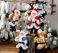 economico -Babbo Natale in resina bambola pendente in piedi postura bambola bambola decorazione