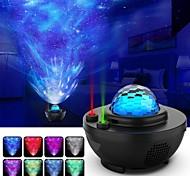 abordables -projecteur de lumière de nuit projecteur étoile projecteur d'onde océan-projecteur de galaxie deux lumières laser avec haut-parleur de musique BluetoothParfait pour chambre / salles de jeux / fête /