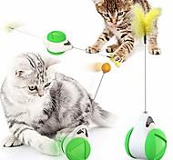 economico -cat chasing toy balance car design giocattoli interattivi per gatti auto non-batteria auto rotante giocattolo per gatti con gatto catnip bacchetta chaser divertente puzzle giocattolo per gatto gattino