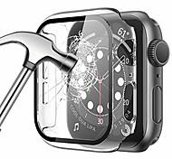 abordables -[Pack de 2] étui pour montre Apple série 44mm 40mm 42mm 38mm se 6 5 4 3 2 1 protecteur d'écran en verre trempé intégré ultra-mince couverture complète étui de protection rigide en PC pour la série