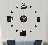 economico -Modern large 400mm 3d mirror surface wall clock 3d wall sticker home office room decorazioni da parete fai da te accessori per la casa